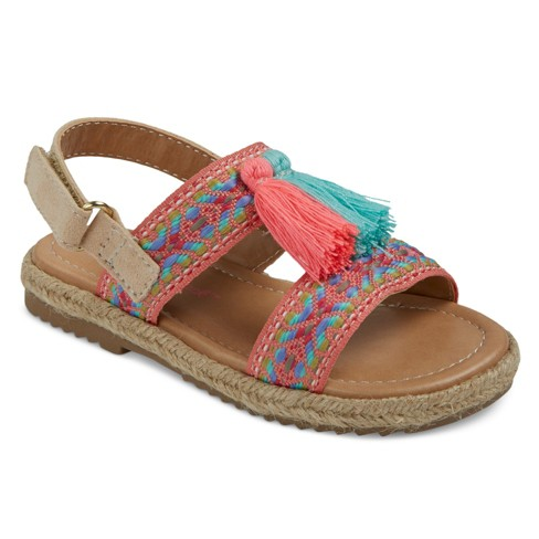 Toddler Girls' Shalyn Embroidered H Band Espadrille Sandals With Tassels Cat & Jack™ - Pink 8 - image 1 of 3