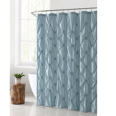 VCNY Home Flora Pintuck Shower Curtain - 72 x 72 Aqua