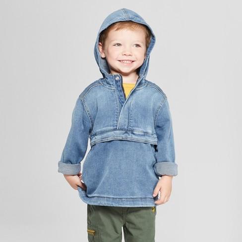 b8270d1bd39e Genuine Kids® From OshKosh Toddler Boys  Denim Hooded Pullover ...