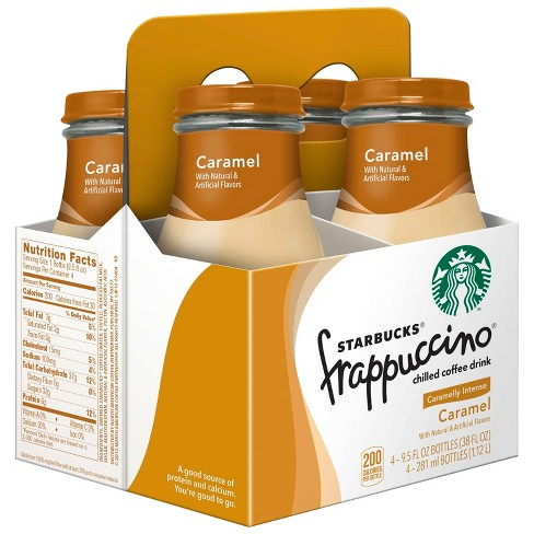Starbucks Frappuccino Caramel Chilled Coffee Drink - 4pk/9.5 fl oz Glass Bottles - image 1 of 3