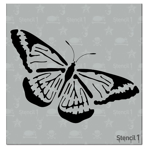 """Stencil1 Butterfly - Stencil 5.75"""" x 6"""" - image 1 of 3"""