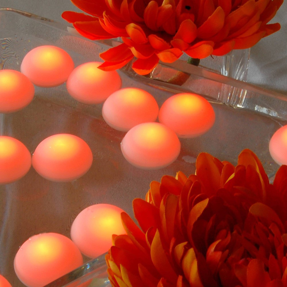 12ct Lumabase Orange Battery Operated Floating Blimp Led Lights