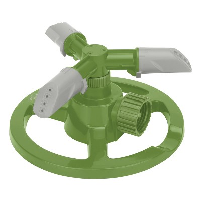 Martha Stewart MTS-CRSPR3 3-Arm Rotating Sprinkler with High-Impact-Resistant Circle Base