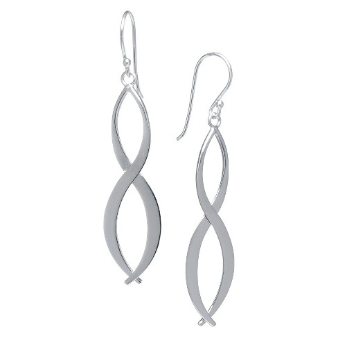 Sterling Silver Infinity Drop Earrings - Silver - image 1 of 1