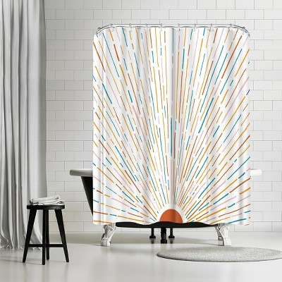 """Americanflat New Sunset Wide by Modern Tropical 71"""" x 74"""" Shower Curtain"""