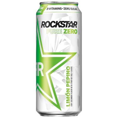 Rockstar Pure Zero Lime Cucumber Energy Drink - 16 fl oz Can