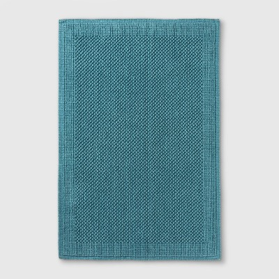 "30""x21"" Performance Textured Bath Mat Turquoise - Threshold™"