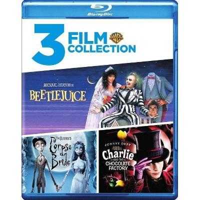 Beetlejuice/Charlie and Chocolate Factory/Tim Burton's Corpse Bride (Blu-ray)