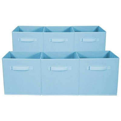 Sorbus 6pk Foldable Storage Cubes - Pastel Blue
