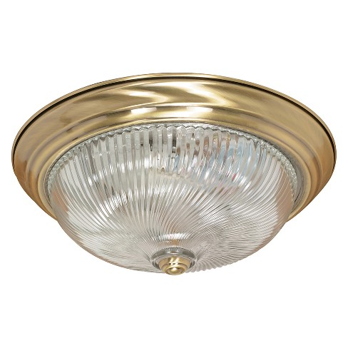 Aurora Lighting 3 Light Antique Flush Mount Ceiling Lights Brass - image 1 of 1