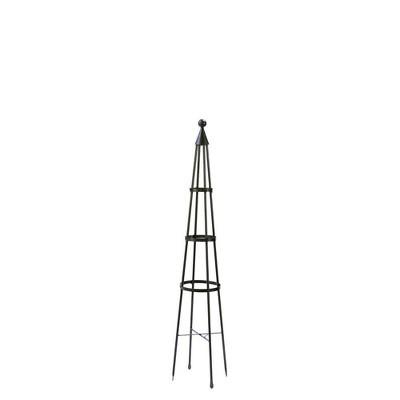 Iron Obelisk Garden Trellis Graphite Powder Coat finish - Achla Designs