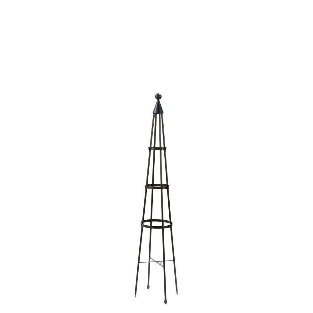 60 34 Tall Iron Obelisk Garden Trellis Graphite Powder Coat Finish Achla Designs