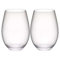 0af723a8f9 ... Plastic Tritan Water Bottle - Silver Buffalo. Trinity 20oz Set of 2  Stemless Wine Tumbler Clear - Zak Designs