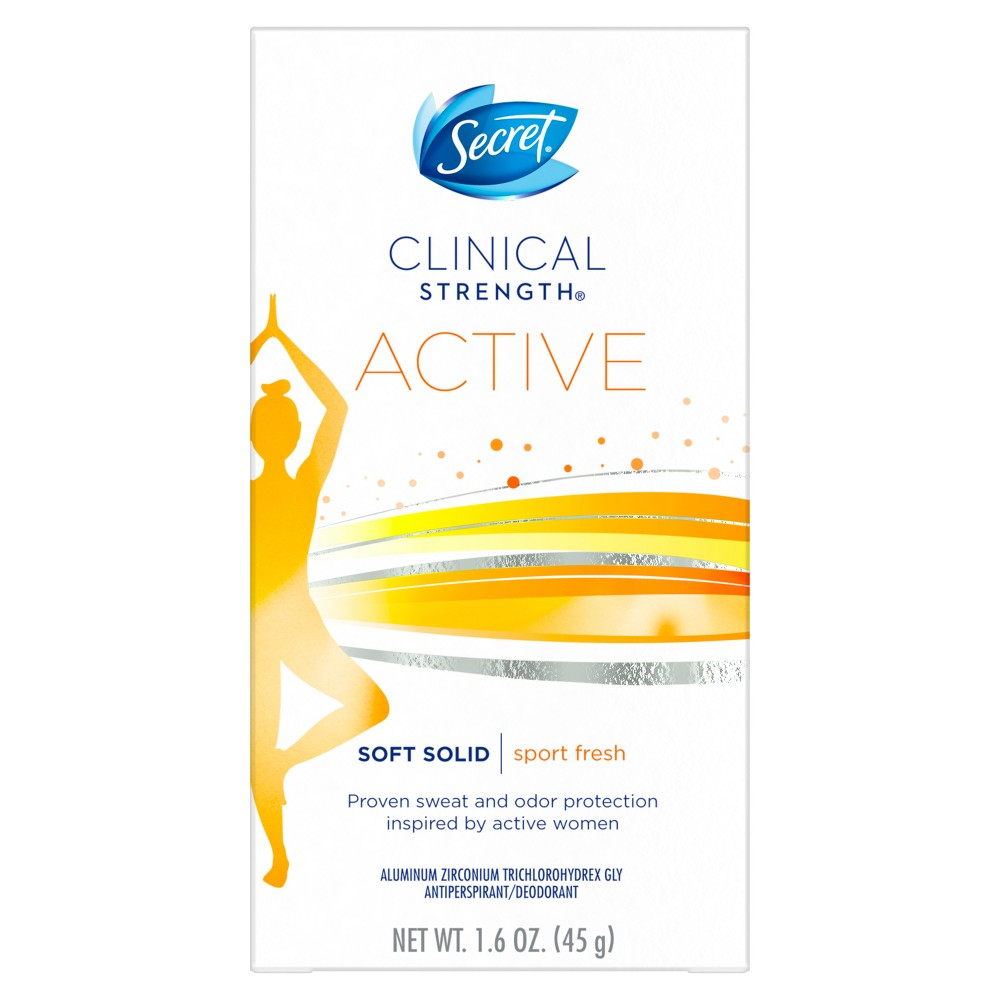 Image of Secret Clinical Strength Active Soft Solid Antiperspirant and Deodorant - 1.6oz