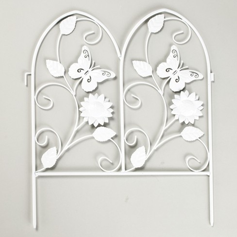 Lakeside Decorative Metal Butterfly Garden Border Fence for Landscaping - image 1 of 3