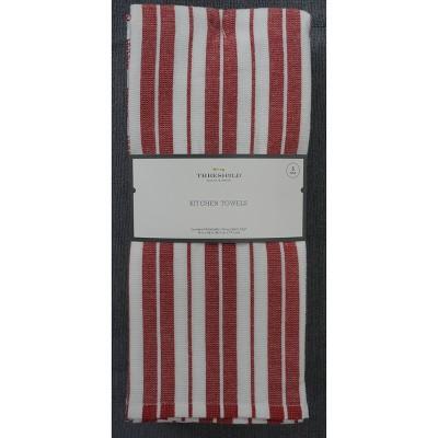 5pk Cotton Kitchen Towels Red - Threshold™