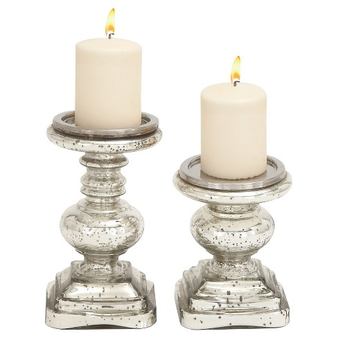 Traditional Candle Holder Set 2ct - Olivia & May - image 1 of 2