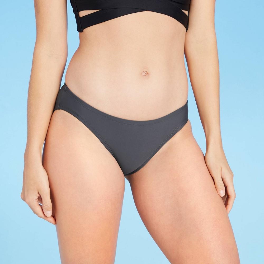 Women S Full Coverage Hipster Bikini Bottom Kona Sol 8482 Gray Xs
