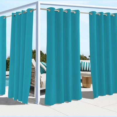 Outdoor Decor Coastal UV Protected Solid Top Panel With 8 Stainless Steel Grommets