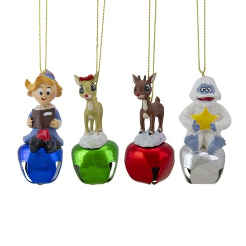 """Roman 4ct Blue Rudolph and Friends Bell Christmas Ornaments 3"""" - image 1 of 2"""