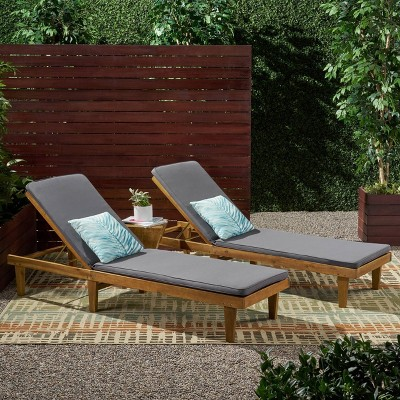 Nadine 2pk Chaise Lounge Patio Set - Christopher Knight Home