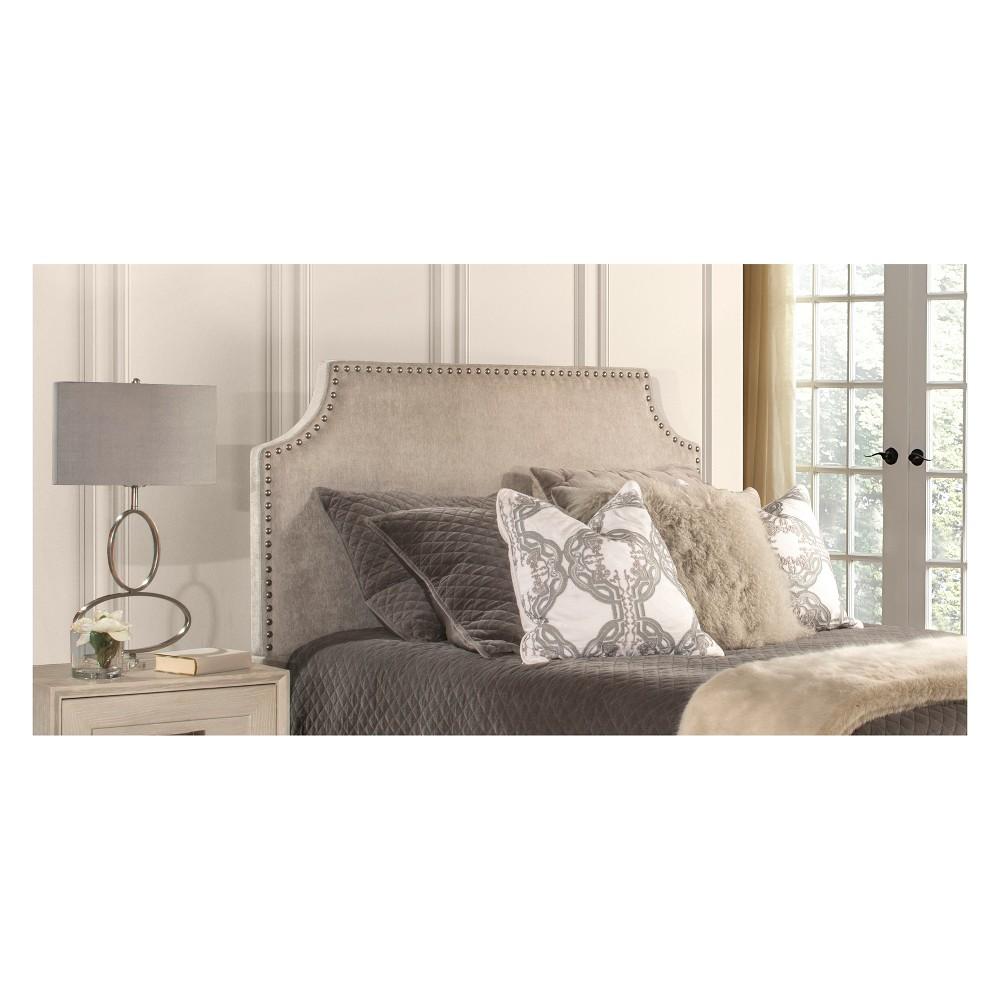 Dekland Upholstered Headboard Queen Headboard Frame Included Ash Velvet - Hillsdale Furniture, Gray
