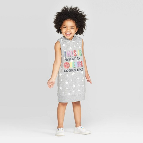 Toddler Girls' Avengers Dress - Gray - image 1 of 3