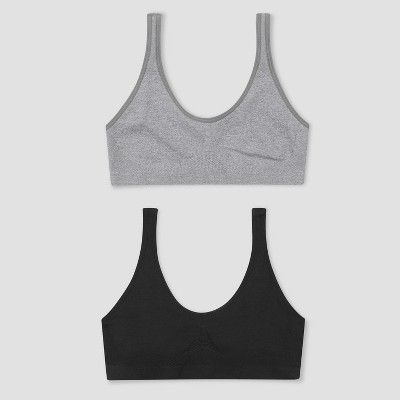 5ad6bac218 Hanes Girls  2pk Get Cozy Seamless Pullover Bra-...   Target