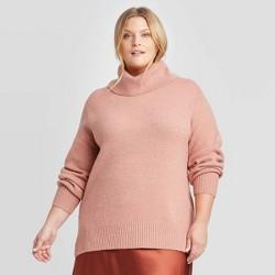 Women's Plus Size Turtleneck Tunic Sweater - Ava & Viv™