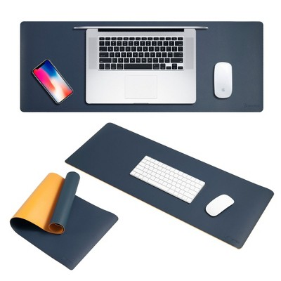 Insten Double-Sided Color Roll Up Leather Mouse Pad Keyboard Mat with Strap
