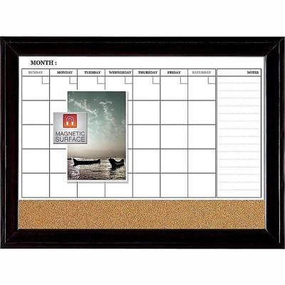 Quartet Combo Dry-Erase & Bulletin Board Black 817537