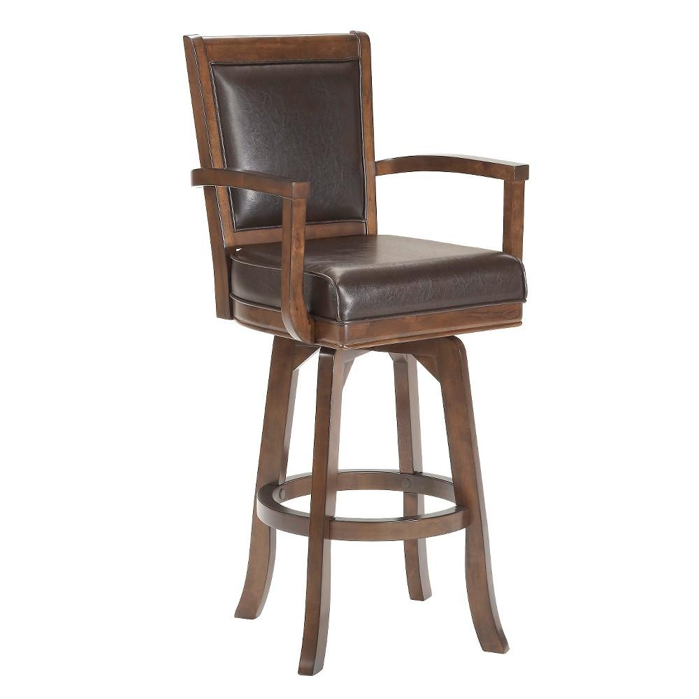 26 Ambassador Swivel Armchair Counter Stool Wood/Cherry (Red) - Hillsdale Furniture