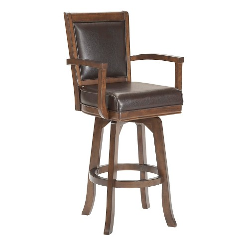 "26"" Ambassador Swivel Armchair Counter Stool Wood/Cherry - Hillsdale Furniture - image 1 of 1"