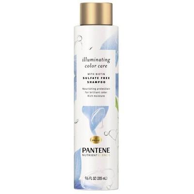 Pantene Illuminating Color Care Shampoo Sulfate Free Color Protection - 9.6 fl oz