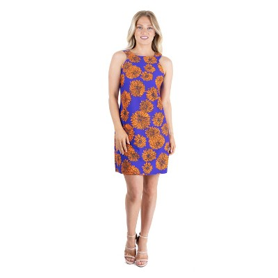 24seven Comfort Apparel Women's Knee Length Halter Dress