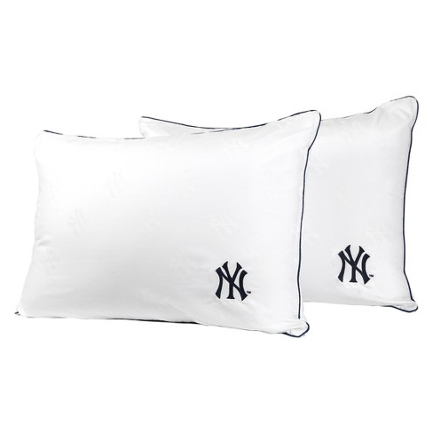 MLB New York Yankees White Embroidered Bed Pillow 2pk - image 1 of 1