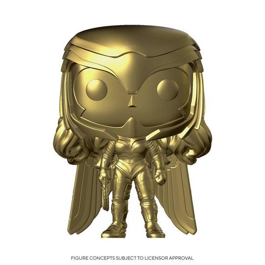 Funko POP! DC Comics: Wonder Woman 1984 - Wonder Woman (Golden Armor Gold Chrome) (Target Exclusive) image number null