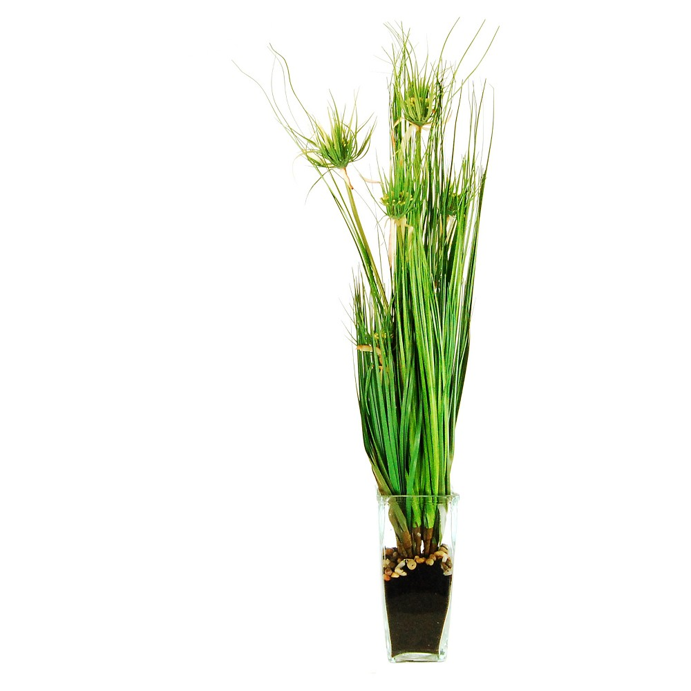 Image of Artificial Grass Arrangement Green 36 - Lcg Florals