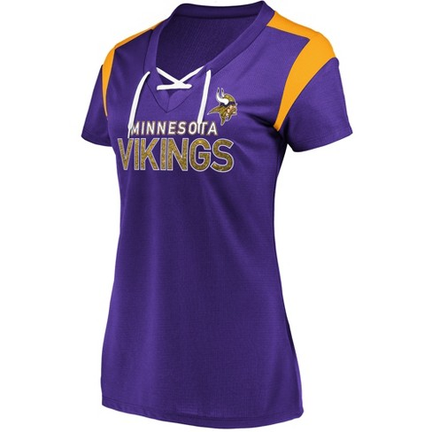 NFL Minnesota Vikings Women s Shimmer Top Fashion Top   Target 866a5b440a1e