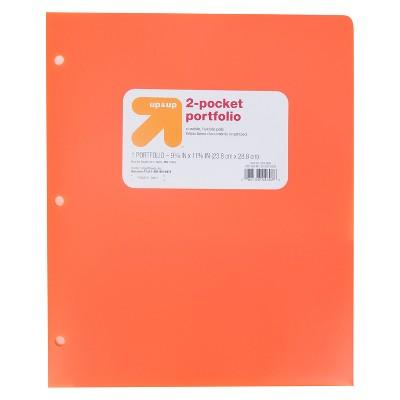 2 Pocket Plastic Folder Orange - up & up™