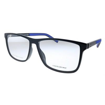 Tommy Hilfiger TH 1696 D51 Unisex Rectangle Eyeglasses Black Blue 55mm