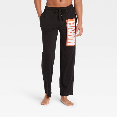 Men's Marvel Pajama Pants - Black
