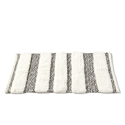 Stripes Bath Rug Beige - Saturday Knight Ltd.