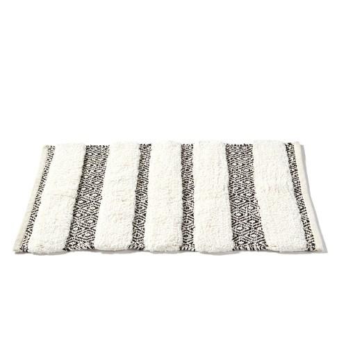 Stripes Bath Rug Beige Saay Knight Ltd