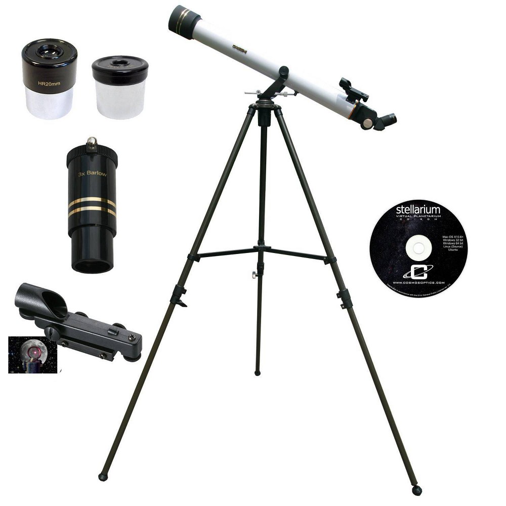 Image of Cassini 800mm x 60mm Astronomical and Terrestrial/Land Telescope Kit - white