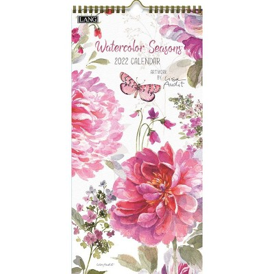 "2022 Vertical Wall Calendar 7.75""x15.5"" Watercolor Seasons - Lang"