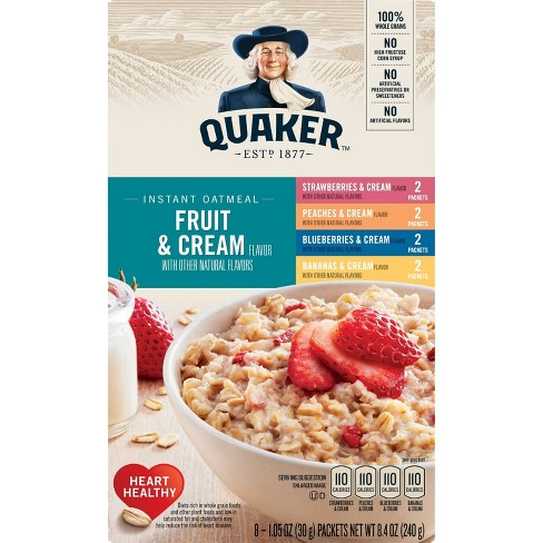 Quaker Fruit & Cream Instant Oatmeal Variety - 8ct/9.8oz - image 1 of 5