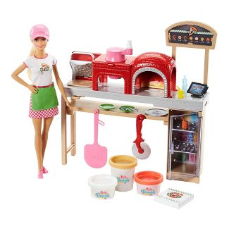 Barbie Careers Pizza Chef Doll and Playset