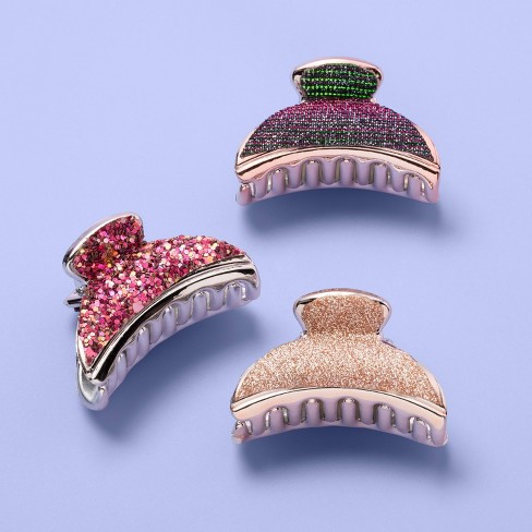 Girls' 3pk Claw Clips - More Than Magic™ - image 1 of 1