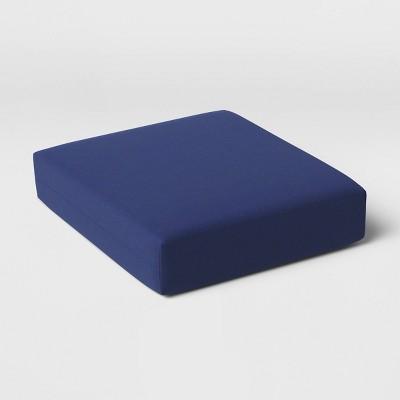 Woven Outdoor Deep Seat Cushion DuraSeason Fabric™ Navy - Threshold™